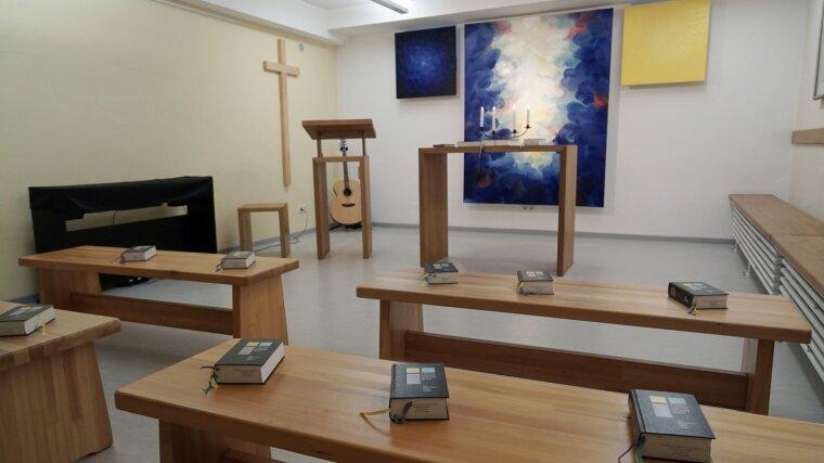 Blick in die Jonakapelle - Andachtsraum der Theologischen Fakultät